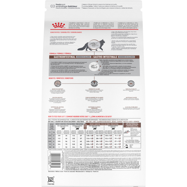 Royal Canin Cat Gastrointestinal Moderate Calorie Diet Dry 7.7lb Bag