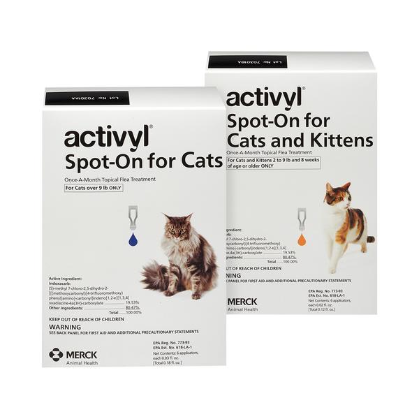 Activyl® Cats  9+ lbs 1.0mL 6pk