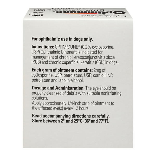 Optimmune® Ophthalmic Ointment 1/8oz Tube