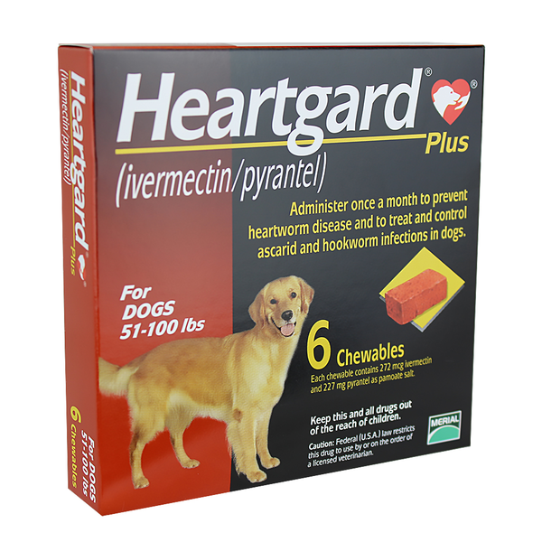 Heartgard® Plus Dog Chews Brown 51-100 lbs 6pk