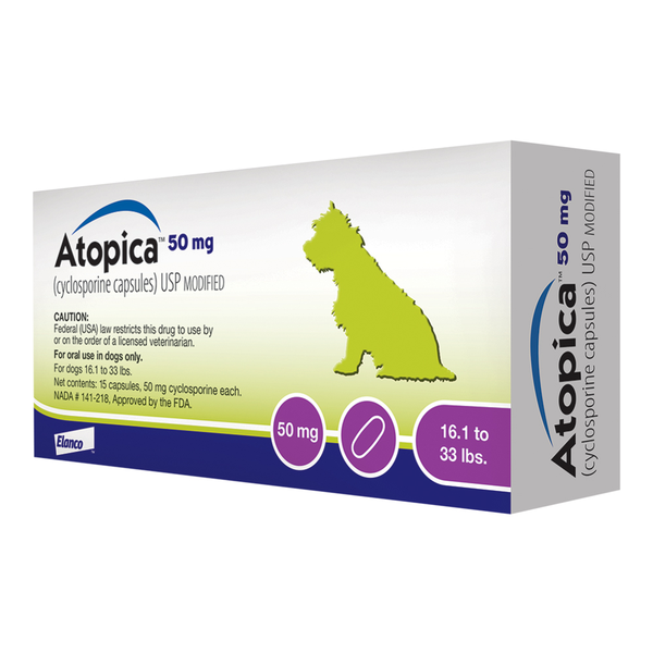 Atopica® Capsules 50 mg 16-33 lbs 30ct