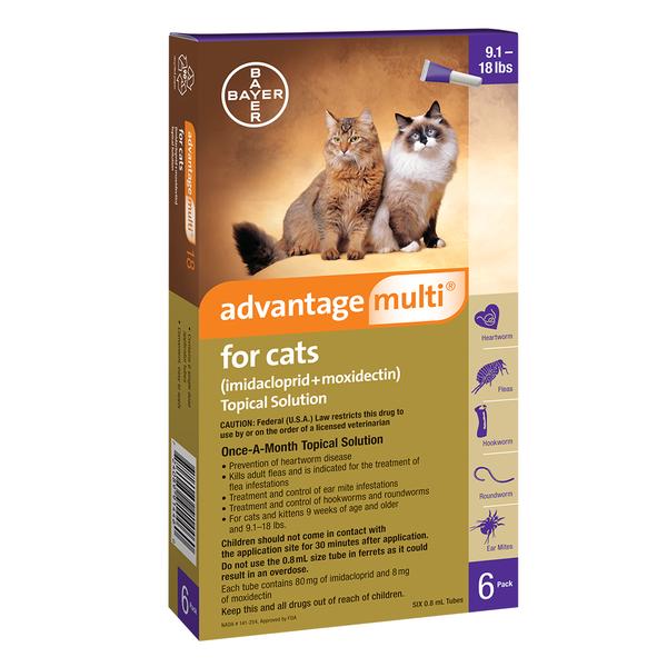 Advantage Multi™ Cat Purple 9.1-18 lbs 6pk