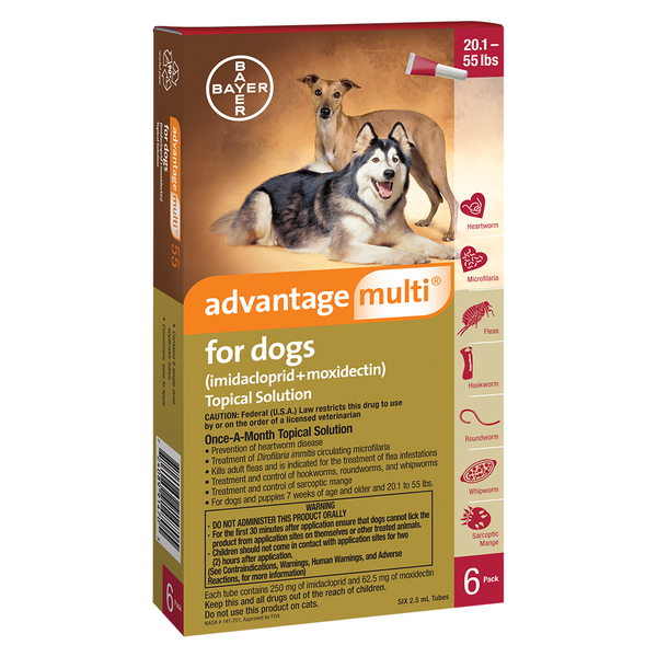 Advantage Multi™ Dog Red 20.1-55 lbs 6pk