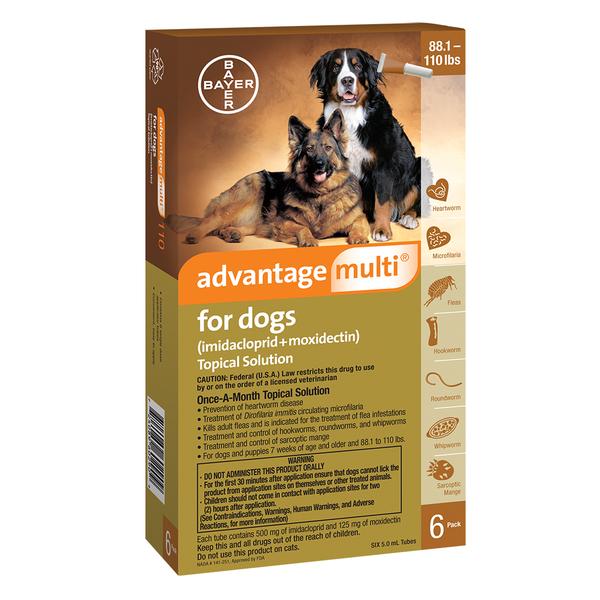 Advantage Multi™ Dog Brown 88-110 lbs 1 dose