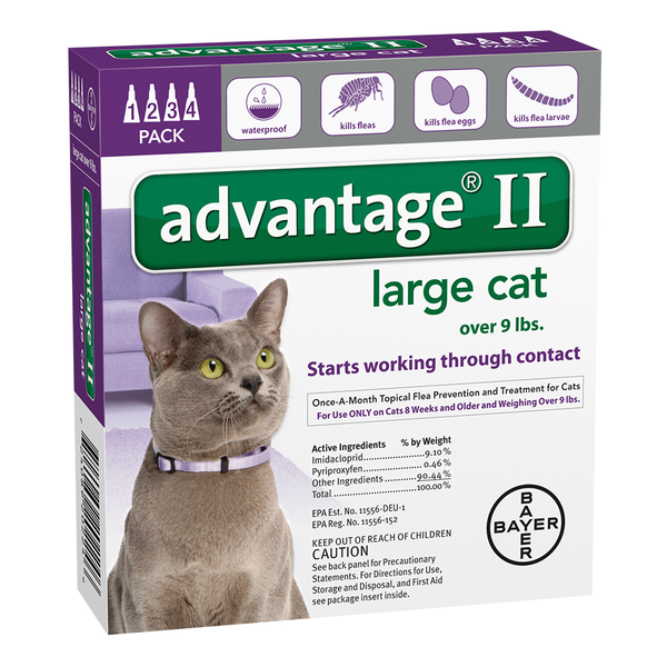 Advantage® II Cat Large 9 lbs and Up 12pk
