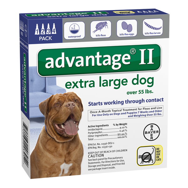 Advantage® II Dog Extra Large 55 lbs and Up 6pk