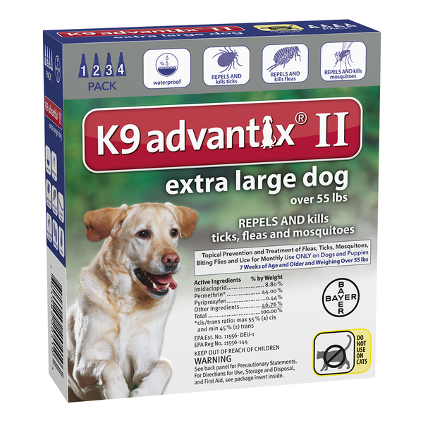 K9 Advantix® II Dog Extra Large 55 lbs and Up 6pk