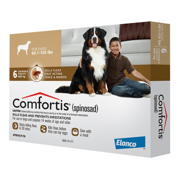 Comfortis® Tablets for Dogs Brown 1620mg 60.1-120lb 1 dose