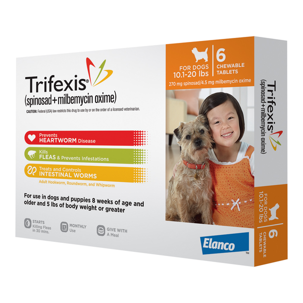 Trifexis® Tablets for Dogs Orange 10.1-20 lbs 6 pack