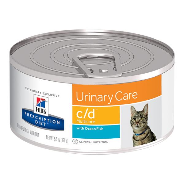 Hill's® Prescription Diet® Cat c/d® Multicare Minced Chicken 5.5oz 24 pack