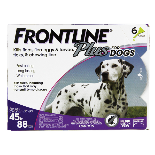 Frontline® Plus Dog Purple 45-88 lbs 6pk