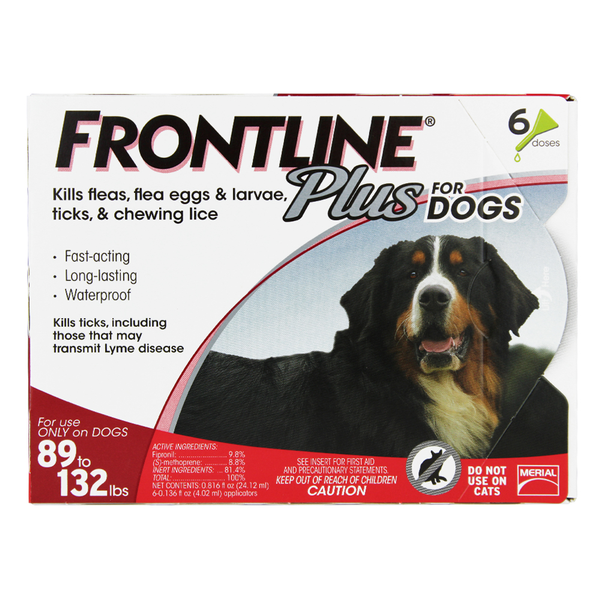 Frontline® Plus Dog Red 89-132 lbs 12pk
