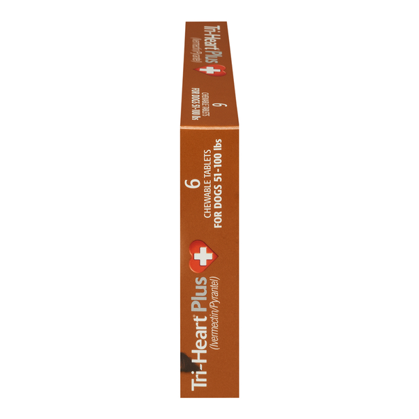 Tri-Heart® Plus Dog Chewable Tablet 51-100lb 6 dose
