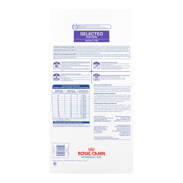 Royal Canin Dog  Selected Protein Adult PR Diet Dry 25lb bag