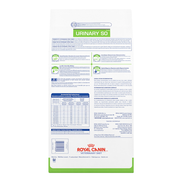 Royal Canin Dog Urinary SO Diet Dry 25.3lb bag