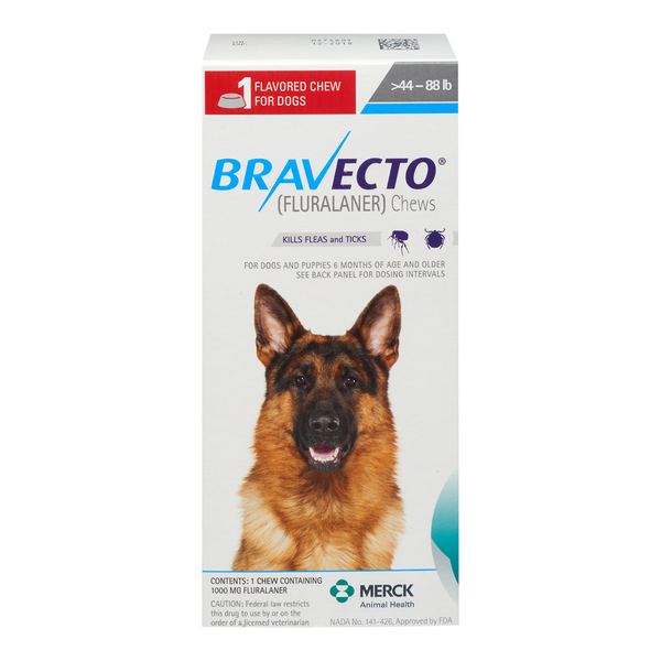 Bravecto® Large Dog Chews 44.1-88lbs 1000mg 1 dose